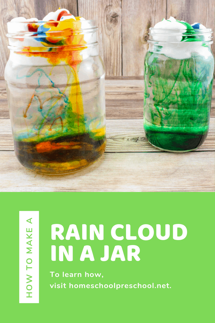 Making a rain cloud in a jar is a great way to explore weather with your preschoolers and young learners. They'll see up close how clouds make rain.