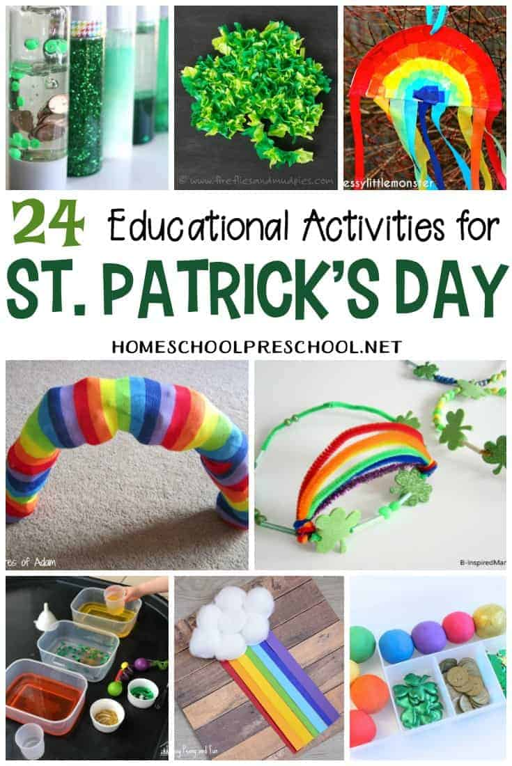 This collection of hands-on educational activities for St Patricks Day is sure to inspire and engage your preschoolers and kindergarteners for hours.