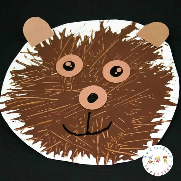 Preschoolers will love creating this simple fork-painted bear craft. Using a fork instead of a paint brush creates a unique texture that kids will love.