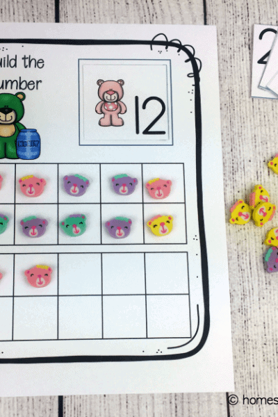 These preschool math printables will help your little ones recognize, count, and write the numbers 1 - 20. These bear-themed preschool counting worksheets are perfect for extra practice!