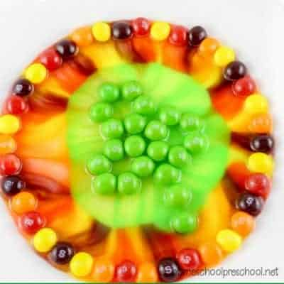 Easy Skittles Candy Science Project for St. Patrick's Day