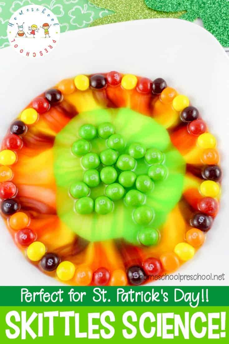 Easy Skittles Candy Science Project for St. Patrick\'s Day