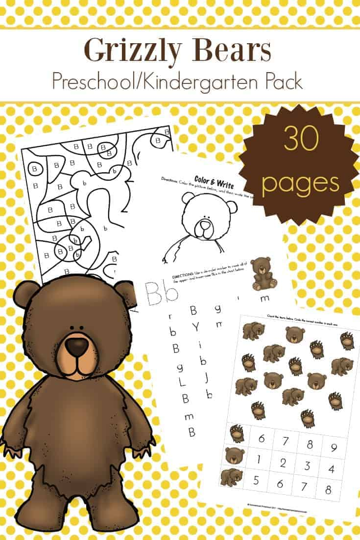 Free Printable Bear Snores On Sequencing Cards