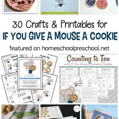 If You Give a Mouse a Cookie Printables and Crafts for Preschool