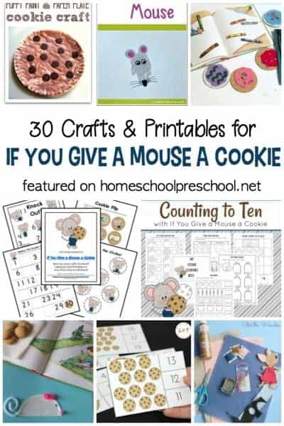 These If You Give a Mouse a Cookie Printables and Crafts pair perfectly with the books in the If You Give a Mouse... series by Laura Numeroff!