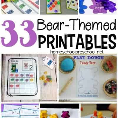 33 Preschool and Kindergarten Bear Printables