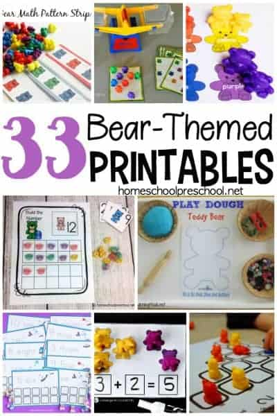 This collection of bear printables is perfect for preschool and kindergarten students. You'll find worksheets featuring bears, polar bears, counting bears, and more.