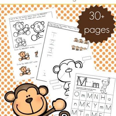 Printable Preschool Monkey Activities