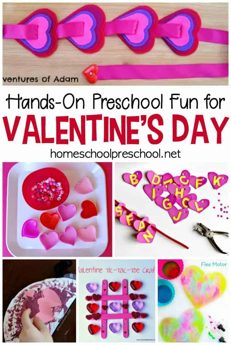 This collection of hands-on, educational preschool Valentine activities will keep your young learners engaged for hours!