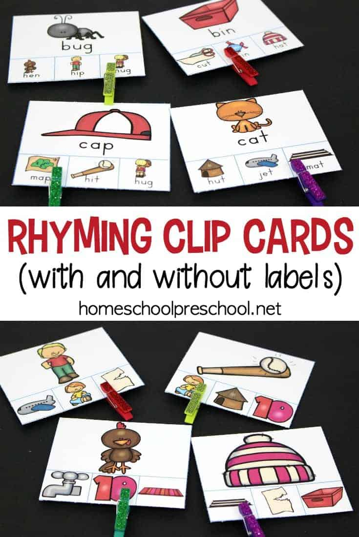 Are you looking for a fun resource to teach rhyming? These hands-on rhyming clip cards focus on rhyming words and fine motor skills.