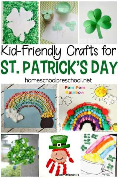 Preschoolers love crafting, and these St Patricks Day kid crafts will make great handmade holiday gifts and decorations. Check out all 21 ideas!