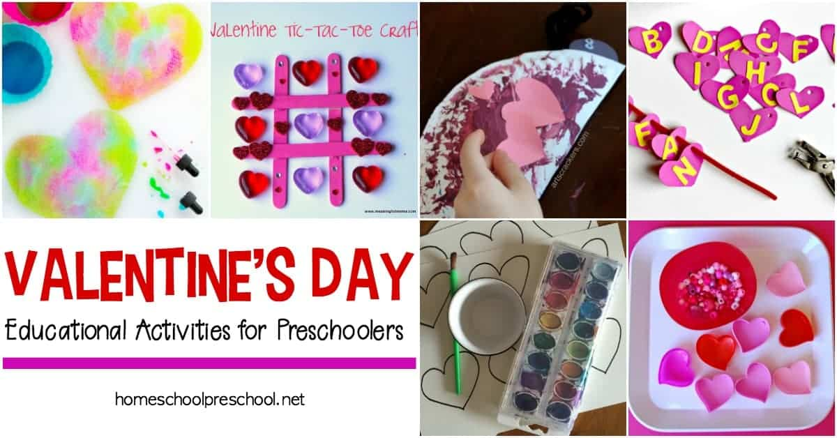 This collection of hands-on, educational Valentines activities for toddlers and preschoolers will keep your young learners engaged for hours!