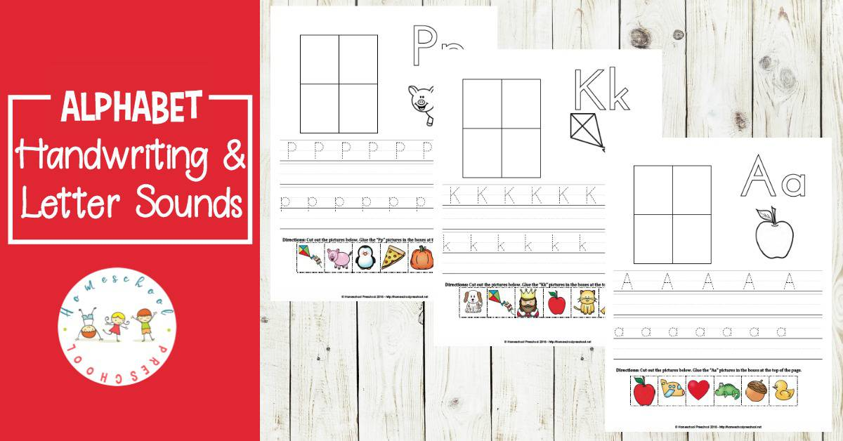 printable alphabet preschool handwriting practice pages