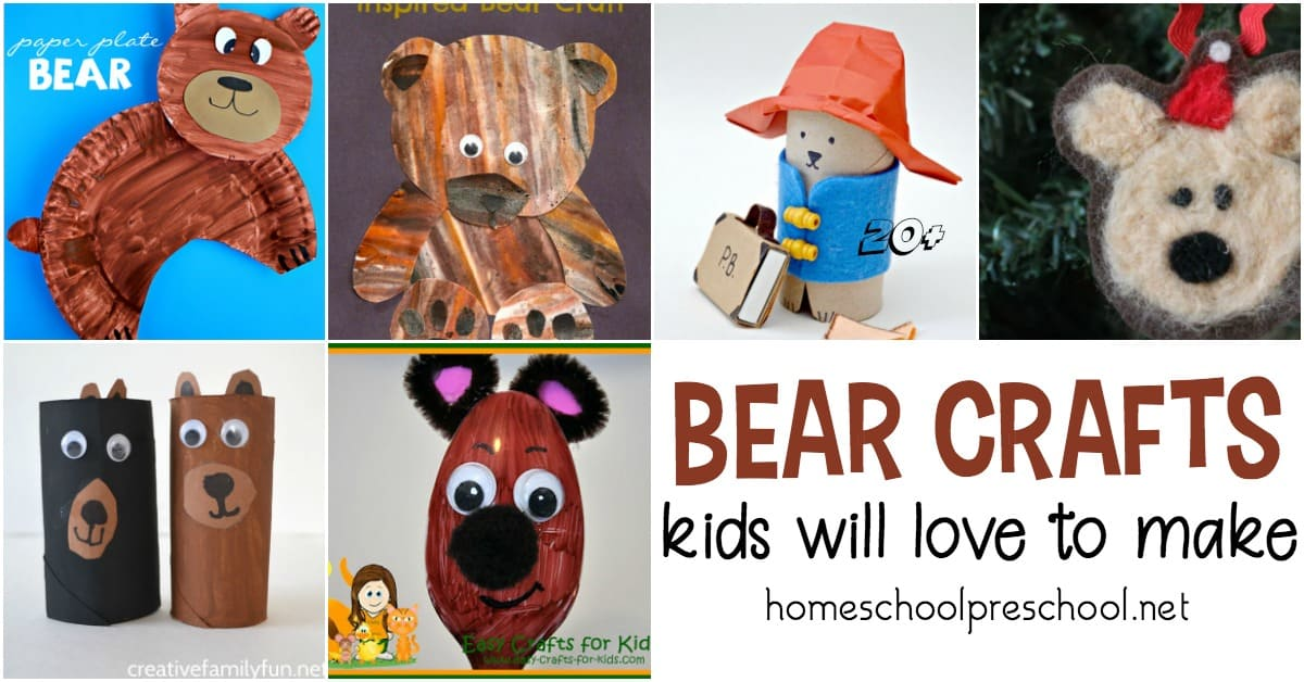 Most kids I know love crafting, and these bear crafts for kindergarten and preschool will go great with all of your bear themed units and activities. Check out all 19 ideas!