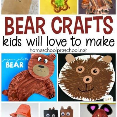 19 Bear Crafts for Kindergarten and Preschool