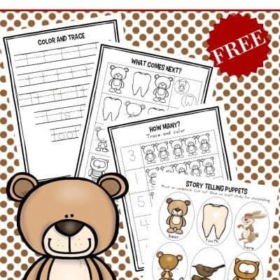 Bear's Loose Tooth Preschool Book Activities