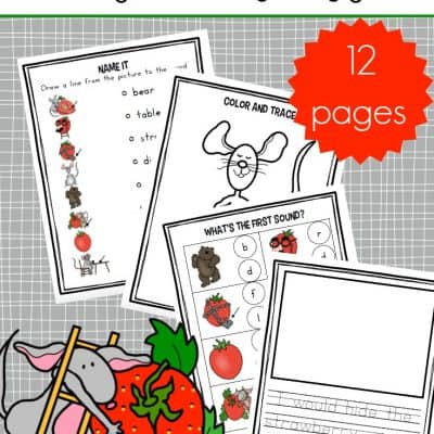 Printable Big Hungry Bear Activities for Preschoolers