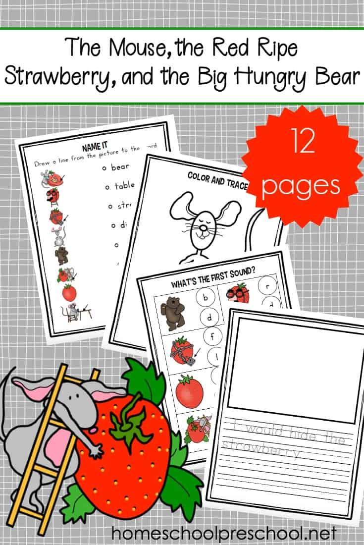 Discover fun and engaging printable The Little Mouse, the Red Ripe Strawberry, and the Big Hungry Bear activities that are perfect for tots and preschoolers.
