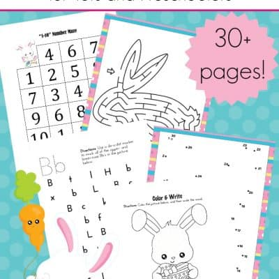 Printable Easter Activities for Tots and Preschoolers