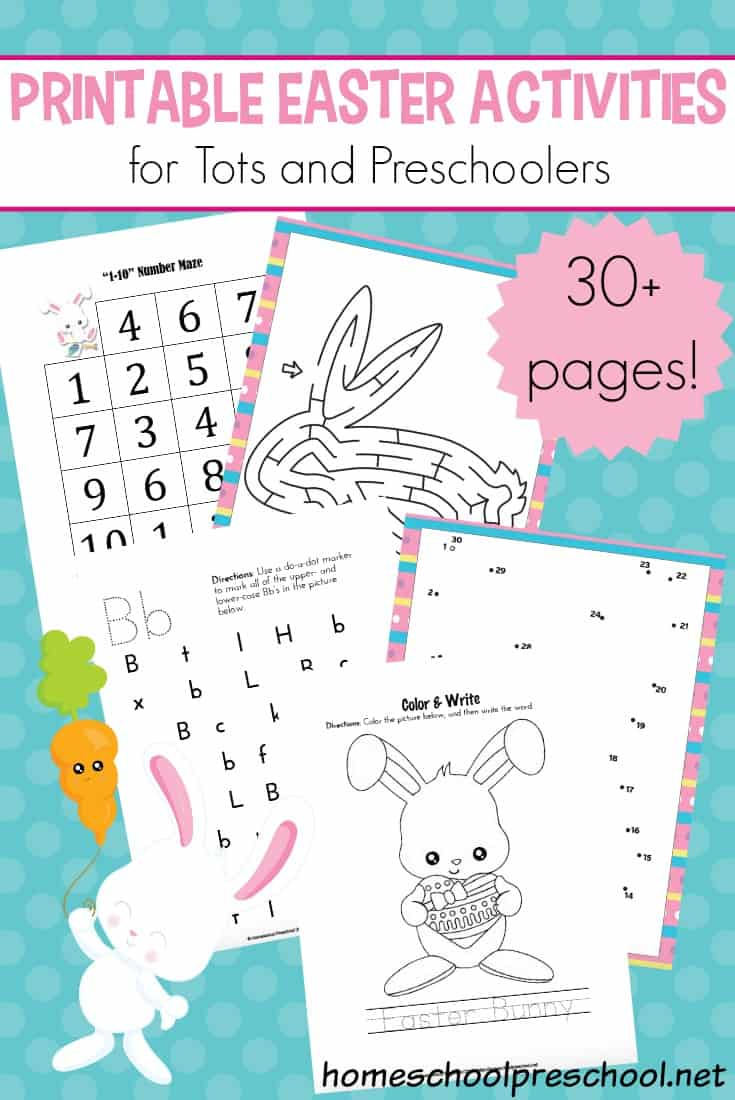 Easter is just around the corner, and there is no better way to get your preschoolers in the mood than with these printable Easter activities for tots and preschoolers.