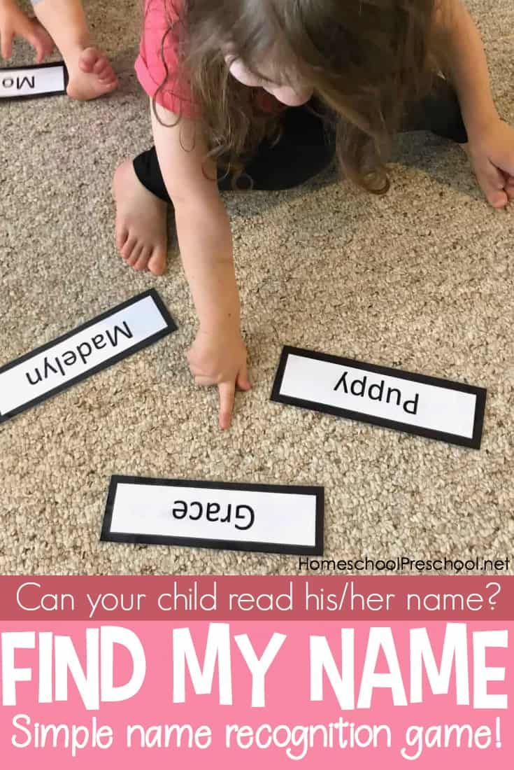 This Find My Name – A Quick and Easy Name Recognition Activity will help your child be able to quickly recall their name and memorize how it looks.