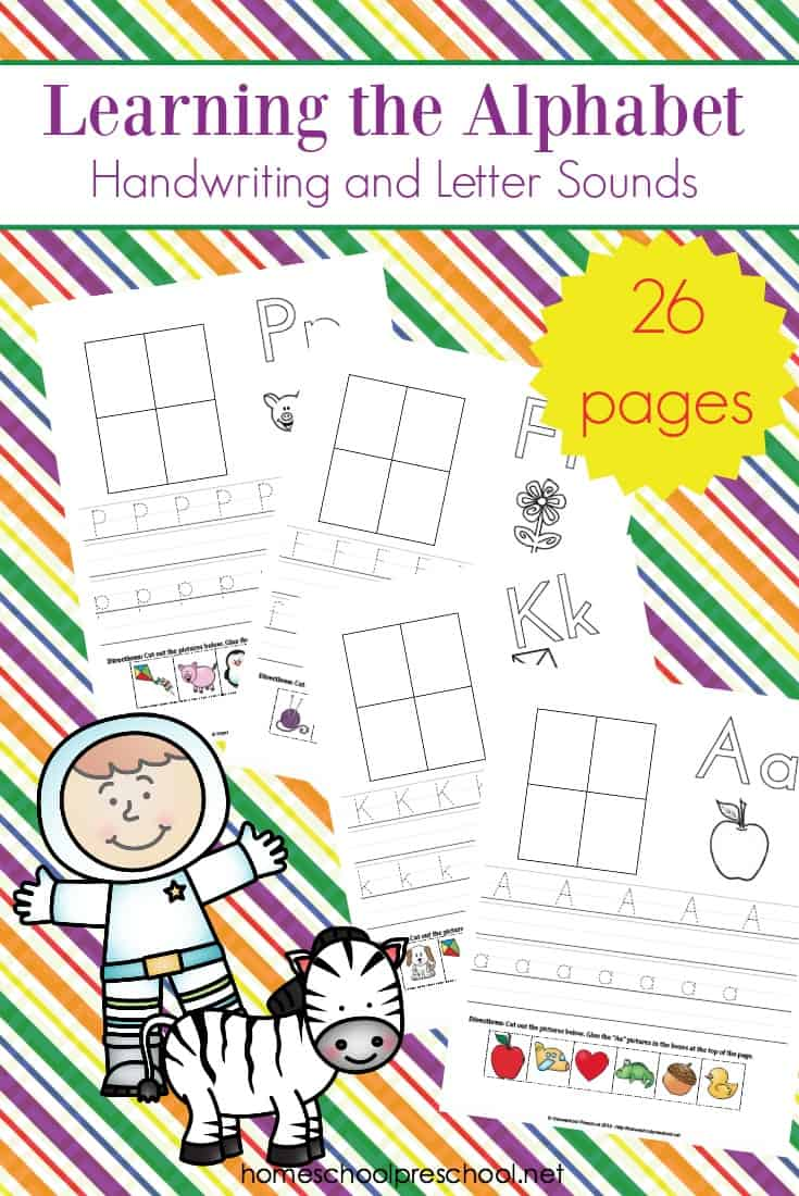 This set of alphabet writing pages is perfect for preschool handwriting practice as well as teaching letter sounds. One hands-on page for each letter of the alphabet!