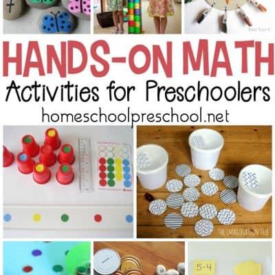 30+ Hands-On Preschool Math Activities