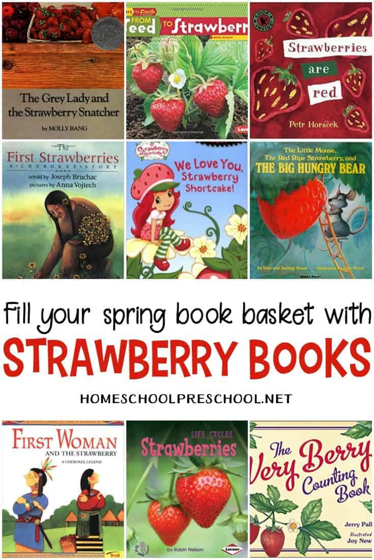 Spring is a great time to study strawberries. Plant some seeds, watch them grow, and read about their life cycle in these books about strawberries.