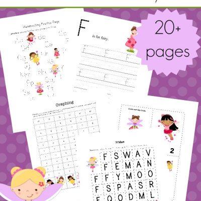 Spring Fairies Preschool Learning Pack