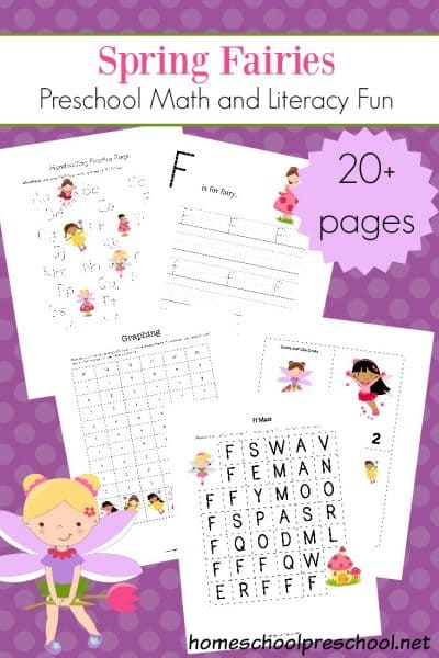 These fairies are here to make your preschool lessons more magical this spring. Be sure to download your Spring Fairies preschool printable learning pack today!