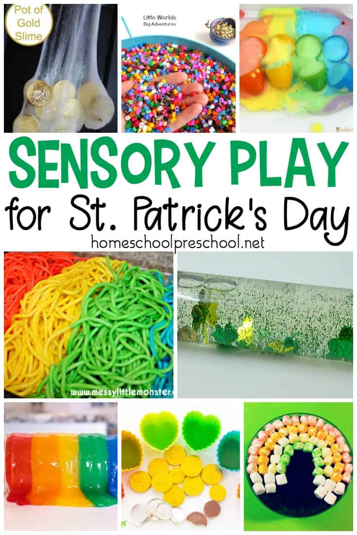 Engage your little ones with one or more of these St Patrick preschool sensory play ideas. Hands-on fun for toddlers and preschoolers!