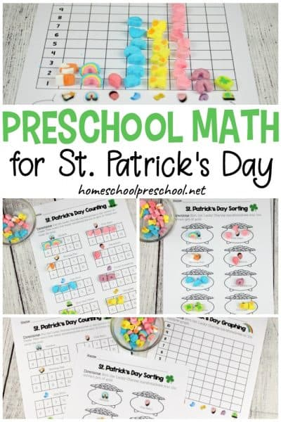 Hands-On Preschool Math for St. Patrick's Day