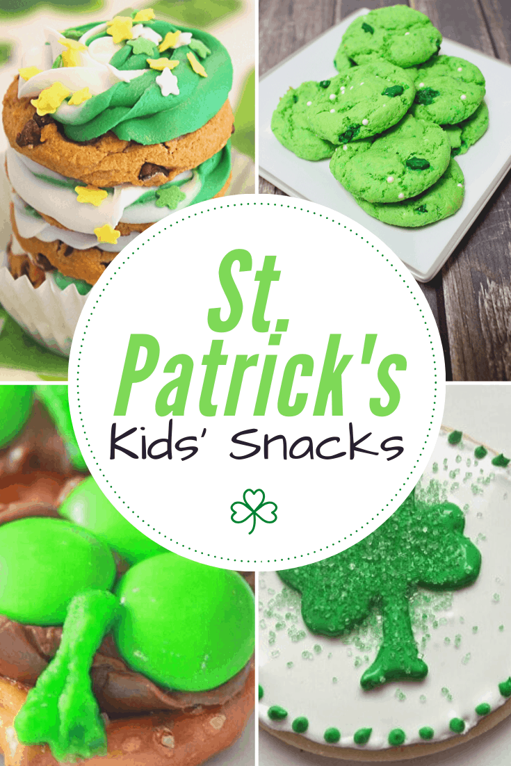 Here's a fun collection of St Patricks Day snacks for kids. Your kids will love helping you make them and then, of course, eating them!