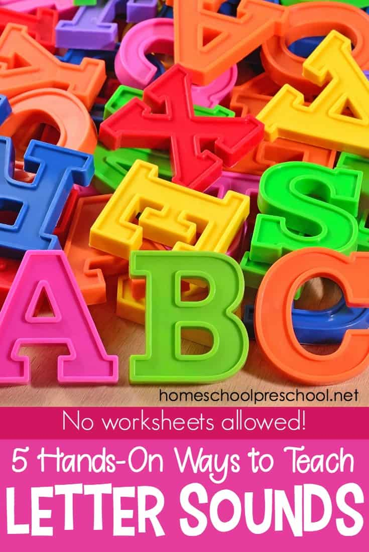 It's too easy to get caught in the drill and kill approach to letter sounds. But teaching phonics shouldn't be dull. Use these 5 techniques and have a blast teaching letter sounds!