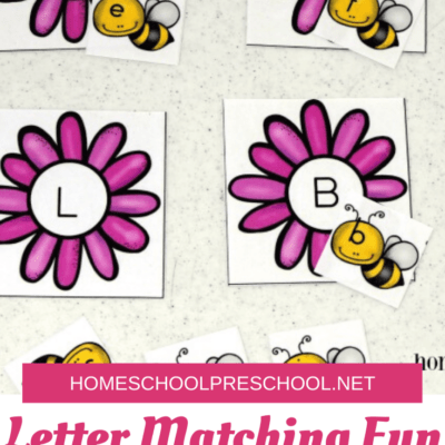 Bee Themed Letter Matching Games