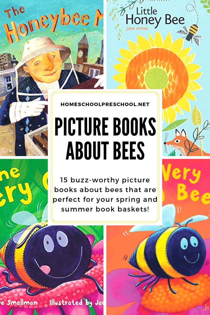 Spring has sprung! Celebrate spring with a basket full of picture books about bees! Here are 15 of our favorites to get you started.