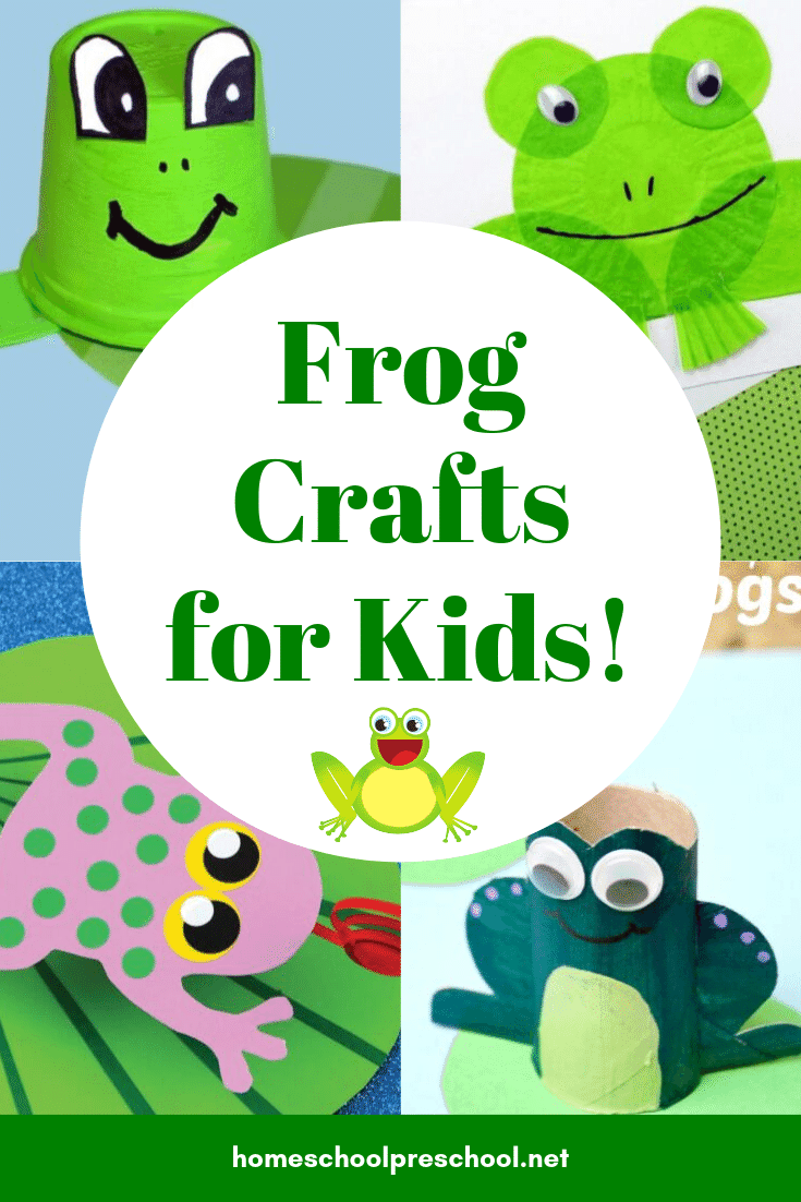 Choose one or more of these frog crafts to add to your frog, pond life, or animal themed preschool lesson plans! They're great for spring and summer fun!