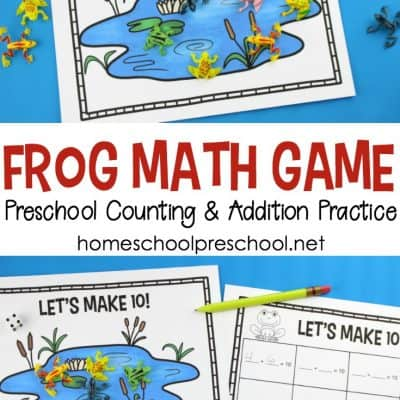 Frog Math Game for Counting and Addition