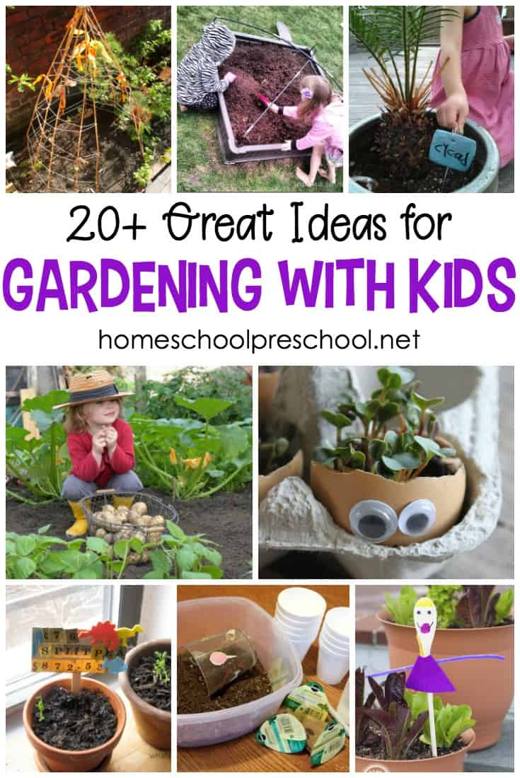 There are so many benefits to gardening with kids. With this amazing collection of ideas and activities, your kids can learn about plants, try new foods, and tend their own garden spots.