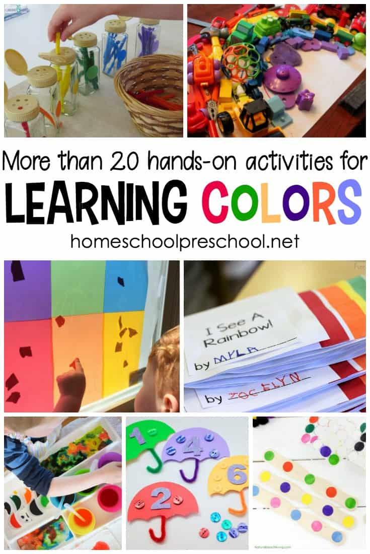 These fun hands-on activities for learning colors are such a great way to teach and reinforce preschool and kindergarten concepts. From sorting and matching to homemade games, there are so many fun activities here!