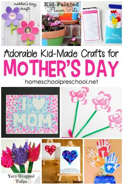 Each one of these Mothers Day crafts is designed for kids to create themselves. They're a great way to show Mom how special she is. There are so many great ideas to choose from!