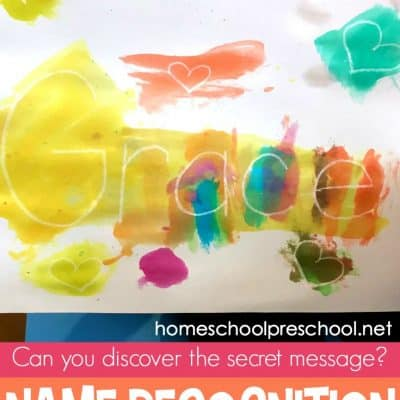 Secret Message Name Recognition Activity for Preschoolers