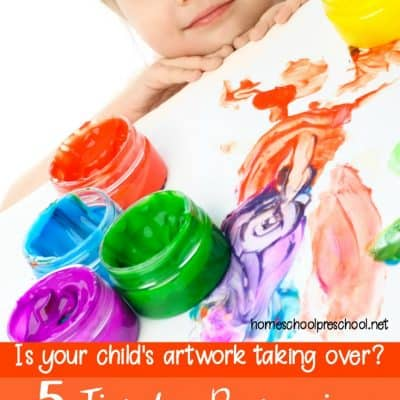 5 Simple Tips for Preserving and Organizing Kids Artwork