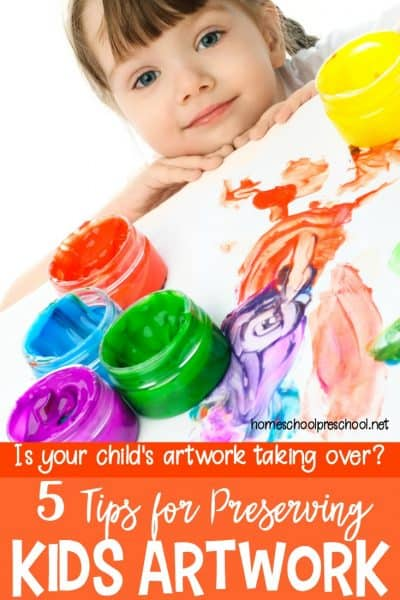 Amazing! Five great tips for preserving and organizing kids artwork! Pick the method that works best for your family, and you'll be clutter free in no time!