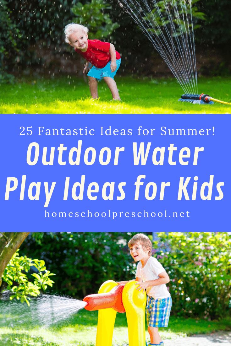 What can you do to entertain your kiddos on a hot summer afternoon? Try one or more of these ideas for an afternoon of outdoor water play for kids.