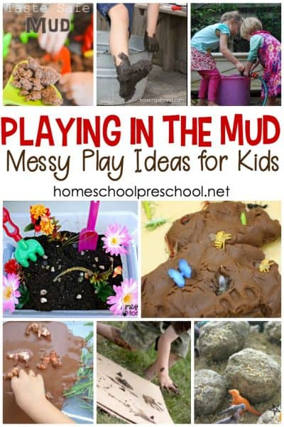 Playing in the mud is the perfect activity after a rainy day! No rain? No problem. Turn on the hose, and let kids get down and dirty with these mud play activities.