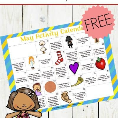 FREE Printable Preschool Activity Calendar for May Fun