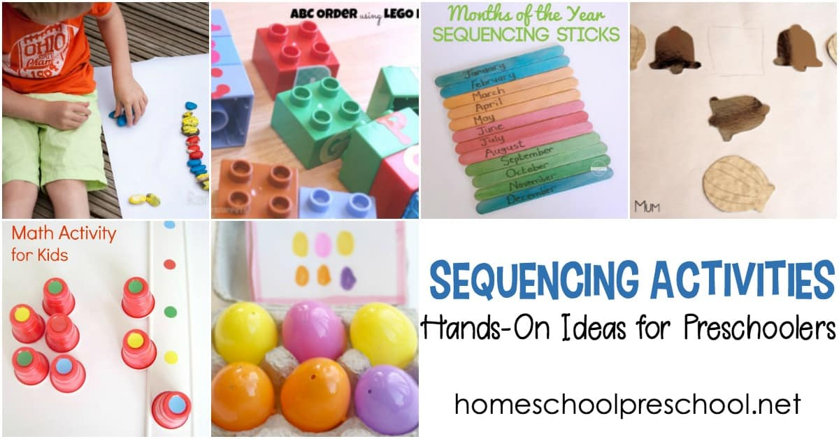 Being able to sequence is an important skill for math and reading. Discover hands-on sequencing activities for preschoolers that are perfect for building a strong foundation.