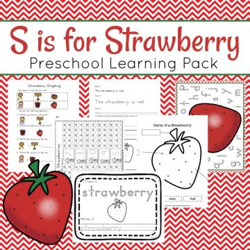 This pack is all about strawberries. Preschoolers will have fun working on beginning math and literacy skills with this brand new strawberry preschool learning pack.