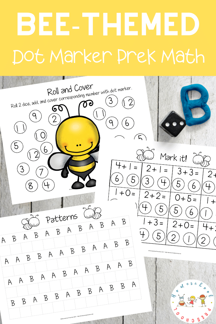 These honey bee math activities are perfect for spring and summer math centers. Focus on counting, adding, and number recognition with this pack.